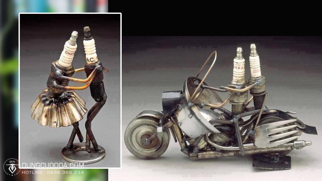 Xe moto được làm từ sắt